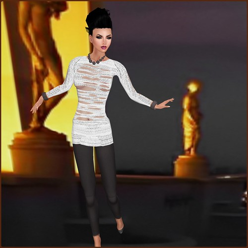 AsHmOoT_AW Coll_Chloe_Ripped Minidress_White by Orelana resident