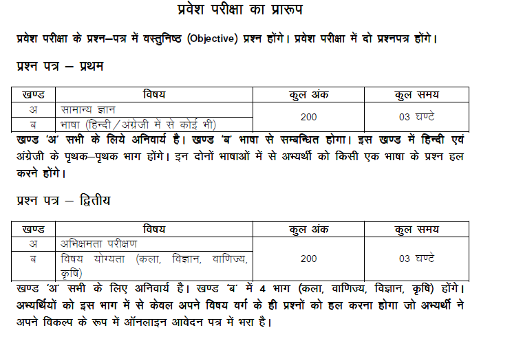 UP B.Ed JEE 2014 Exam Pattern in up b ed  Category
