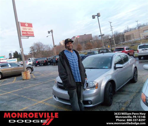 Happy Anniversary to Daniel Sylvester King Ii on your 2013 #Dodge #Avenger from James Platt  and everyone at Monroeville Dodge! #Anniversary by Monroeville Dodge