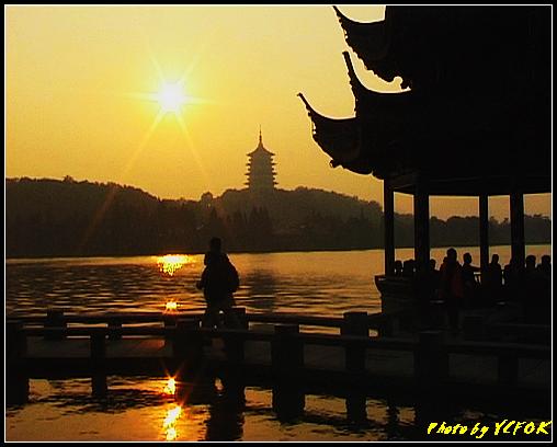 杭州 西湖 (其他景點) - 554 (西湖十景之 柳浪聞鶯 在這裡看 西湖十景的雷峰夕照 (雷峰塔日落景致)
