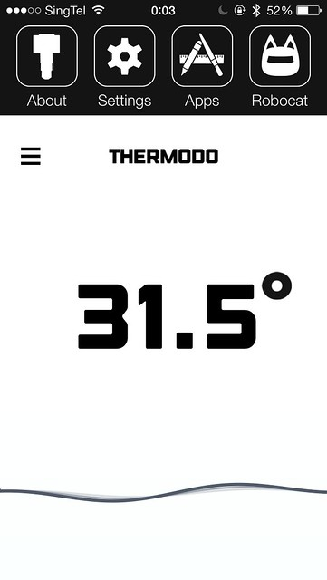 Thermodo iOS App - Settings