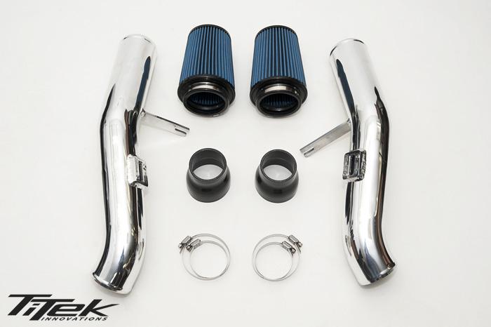 TiTek 3″ Polished Aluminum Intake Kit – Nissan R35 GT-R