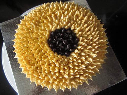 Sunflower Cookie Cake