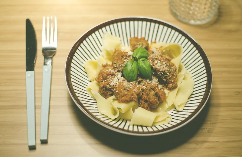 Semlor och hemmagjord pasta.