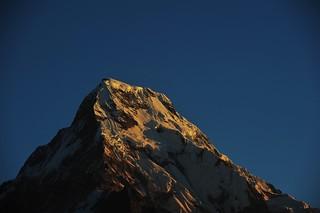 The first piece of sunshine on Dhaulagiri