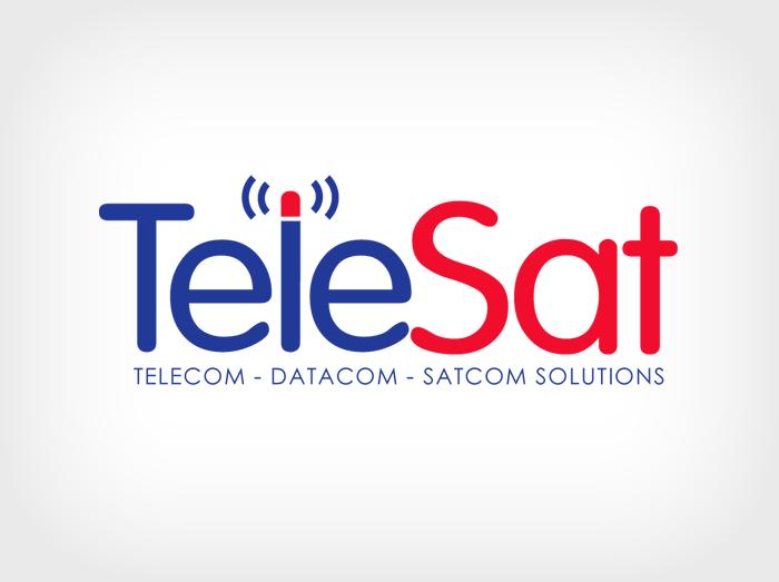 TeleSat Logo Design