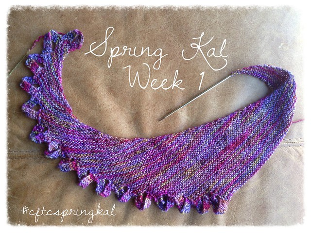 #cftcspringkal week 1 update - 16 loops of Miss Winkle