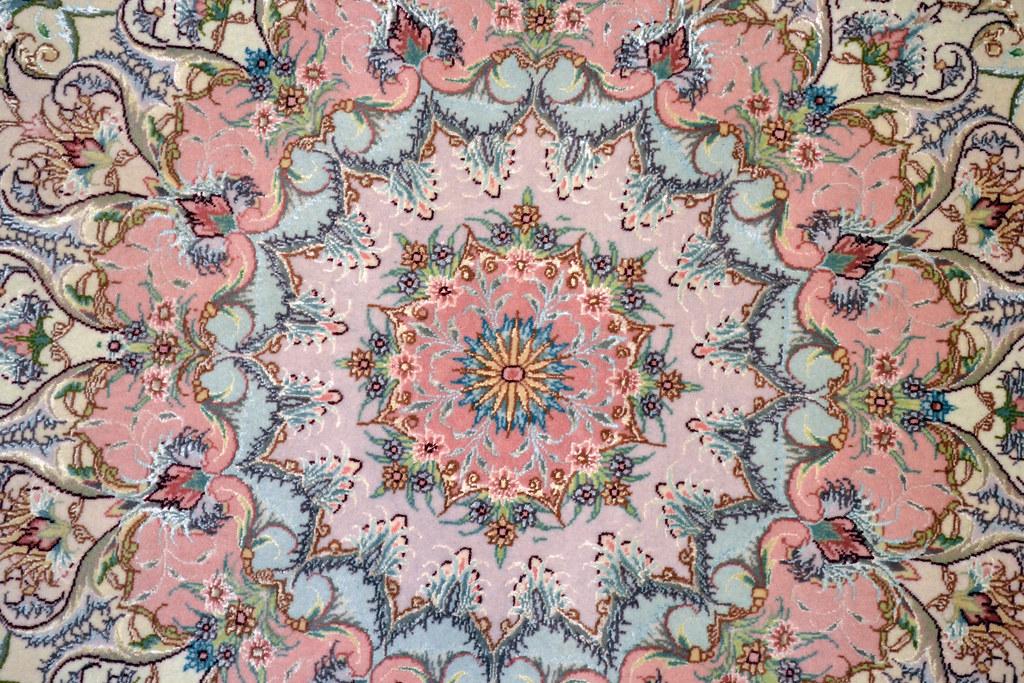 Pink Benam Tabriz 10x13 Persian Rug