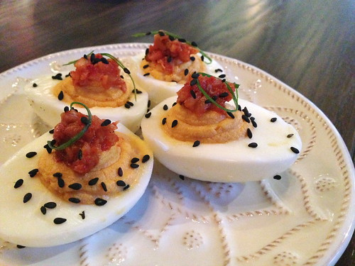 Deviled Jidori Eggs at Faith and Flower