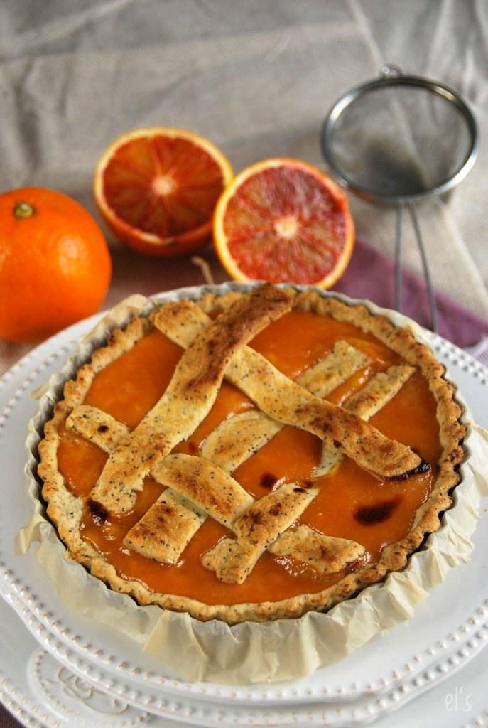 Tarte à l'orange sanguine et pavot