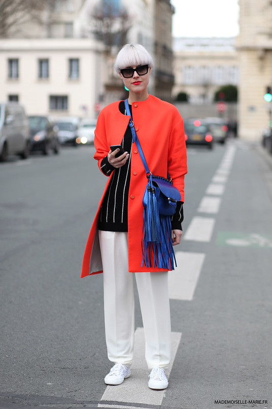 Linda Tol at Paris fashion week