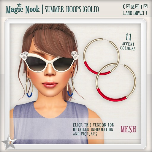 [MAGIC NOOK] Summer Hoops (Gold) MESH