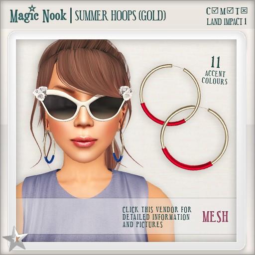 [MAGIC NOOK] Summer Hoops (Gold) MESH
