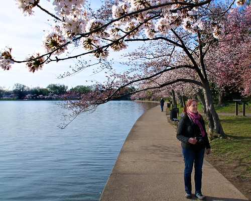Diana Rodriguez at the Tidal Basin by Geoff Livingston