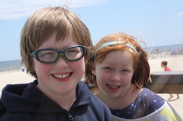 Clark & Tabby, @ the beach