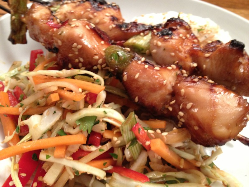 Chicken Yakitori : Served with Asian Slaw