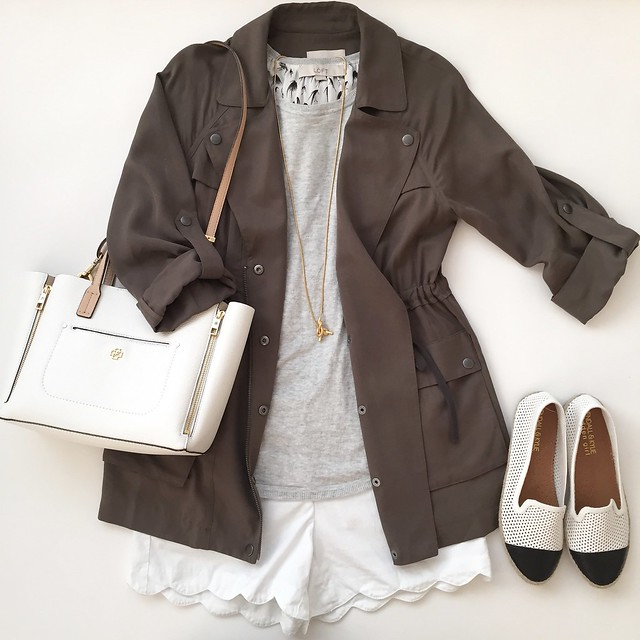 LOFT Relaxed Utility Jacket Outfit