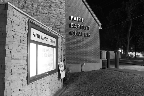 bw illinois nighttime freeburg faithbaptistchurch 3dletterforms
