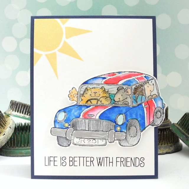 Life is Better With Friends by Jennifer Ingle #JustJingle #SimonSaysStamp #cards #PennyBlack