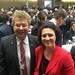12. Februar 2017: Klaus-Peter Bachmann MdL und Carola Reimann beim Empfang des Bundestagspräsidenten nach der Bundesversammlung