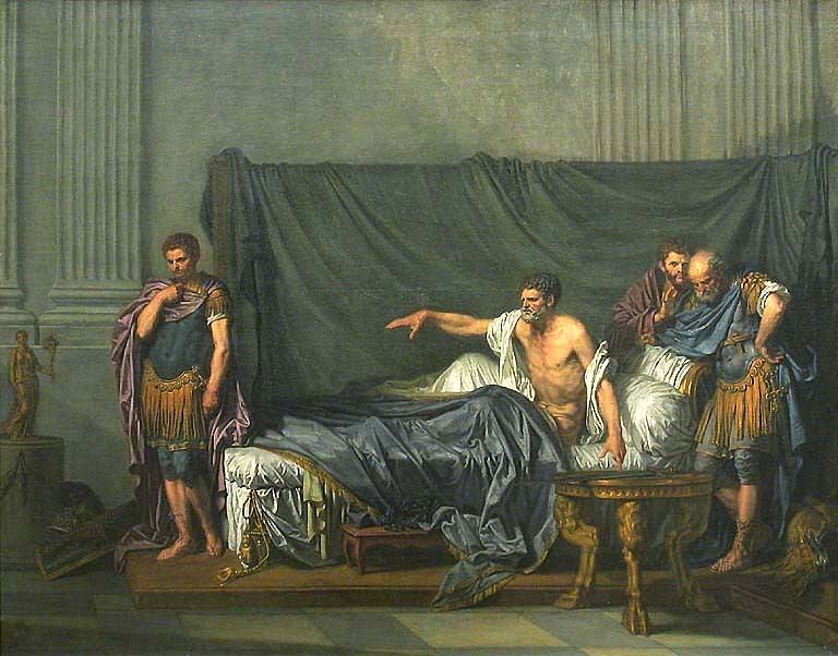 Septimus Severus and Caracalla, by Jean-Baptiste Greuze