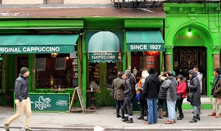 Image of Greenwich Village. konomark first place location invented invent inventor cappuccino caffe cafe reggio greenwich village nyc ny new york city greet coffee shop expreso outdoor original authentic day time shoppe