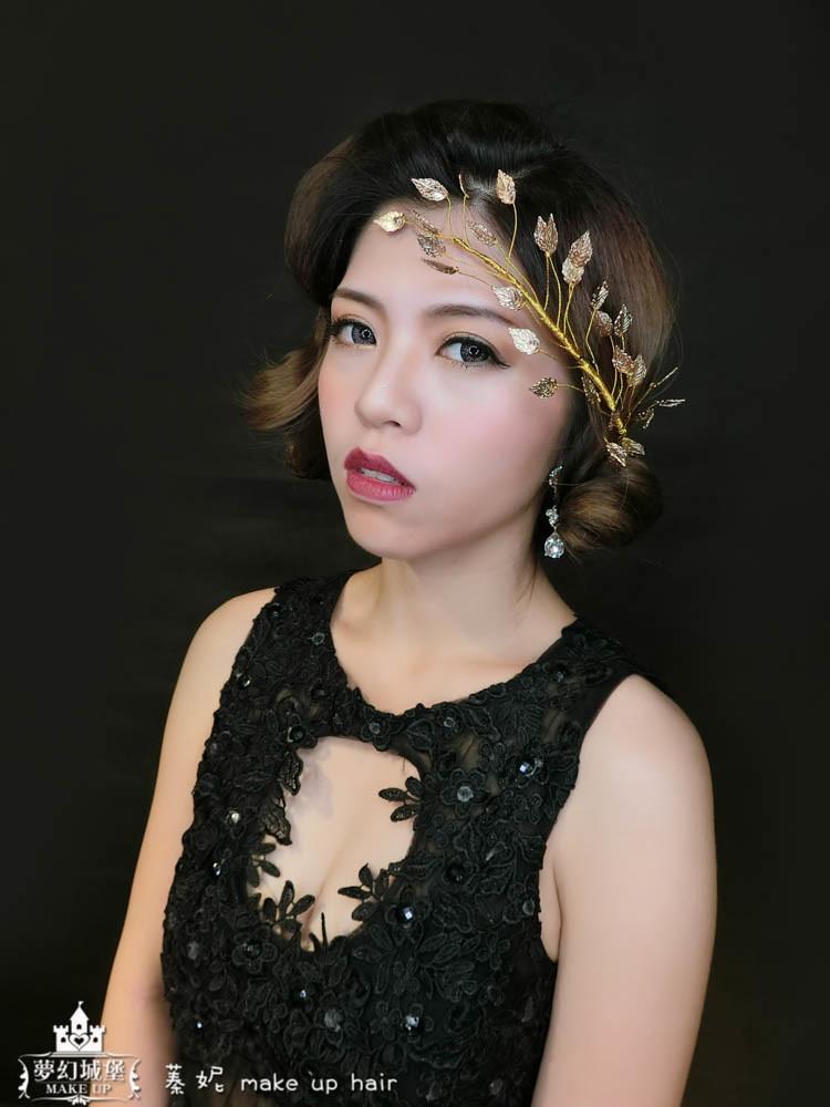 【新秘蓁妮】新娘造型創作 / 復古盤髮