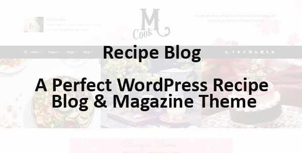 Recipe Blog WordPress Theme free download