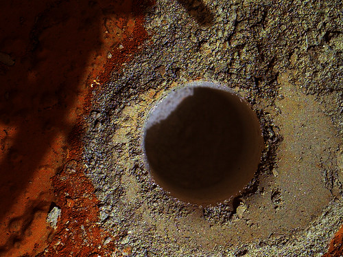 Curiosity MAHLI Sol 279 Cumberland drill