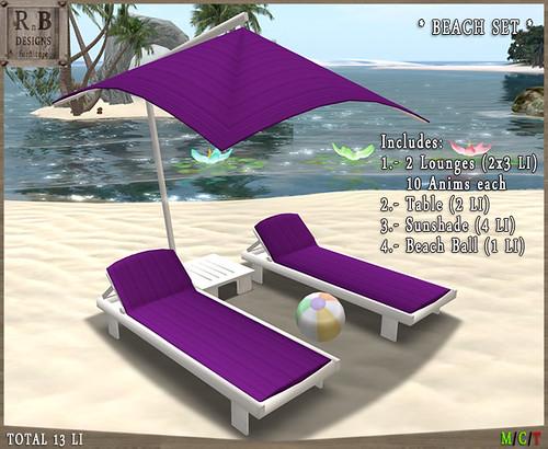 PROMO ! *RnB* Noja Outdoor Set - White & Purple (10x2 Anims)
