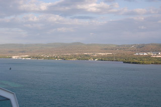 In port at Falmouth, Jamaica on Oasis of the Seas