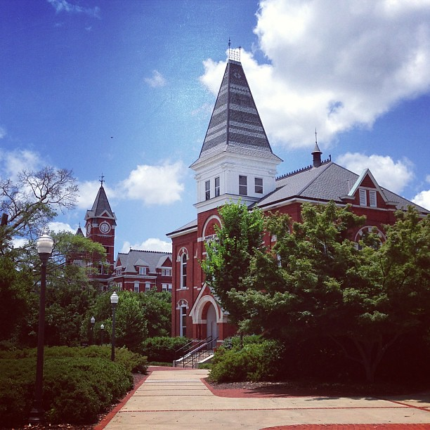 Beautiful day for a walk on campus