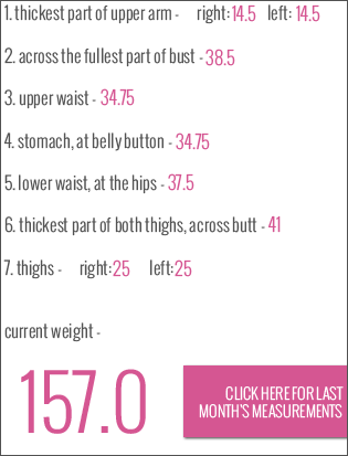 body measurements october