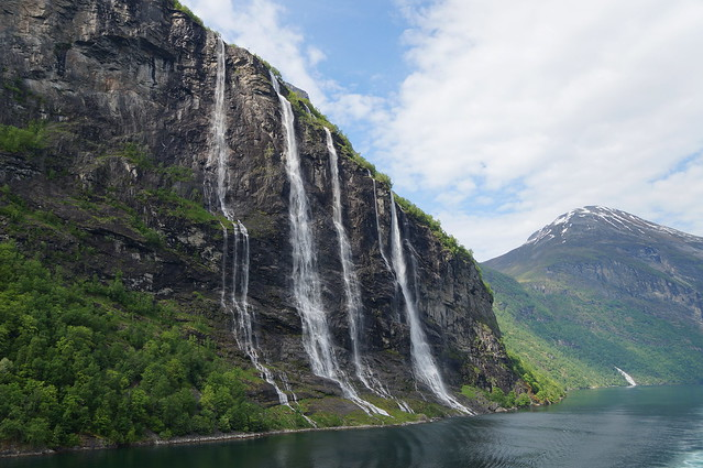 Seven sister's waterfall Geiranger Fjord, Norway.