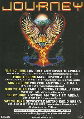 June 2008 Journey UK Tour