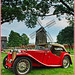 1948 MG TC by the windmill
