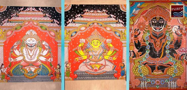 Pati Thakura representing Lord Balabhadra, Jagannath and Subhadra