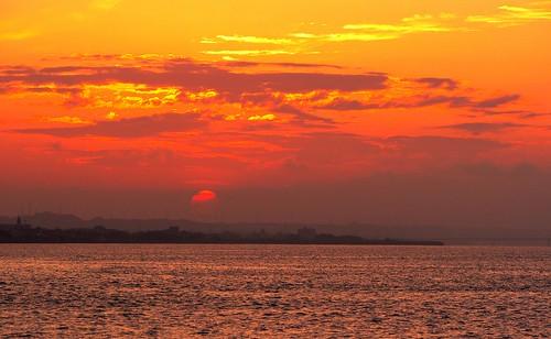 sunset sun river explore redsky toneriver