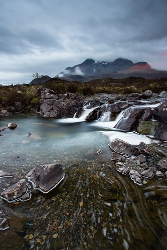 skye tourism water sunrise river landscape scotland waterfall cuillins isle sligachan alltdeargmor