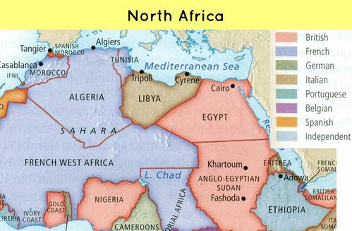 Map-north africa
