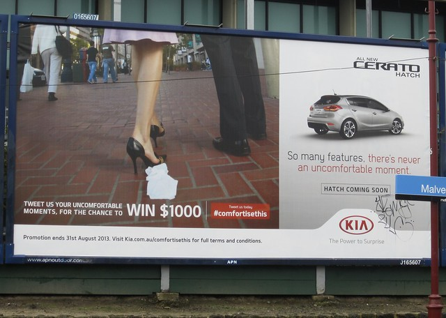 Kia advertising at Malvern station