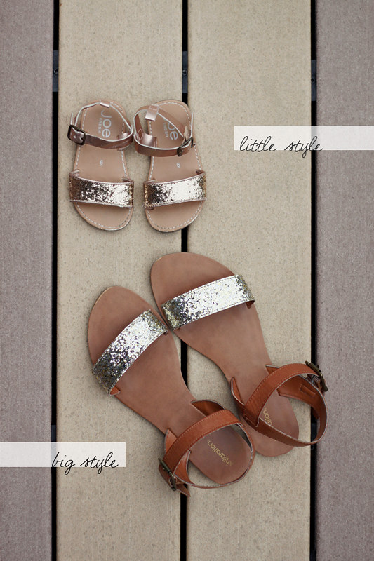 Big / Little Style: sparkly sandals