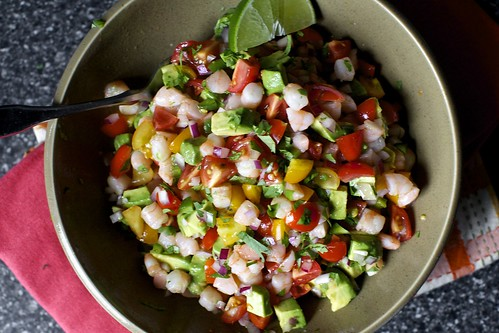 mama canales-garcia's avocado shrimp salsa