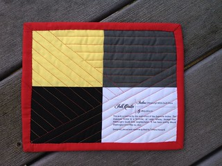 Incline Mini Quilt (8x10) - Back
