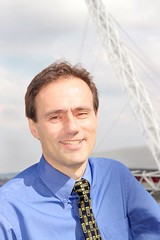 Councillor Paul Lorber in front of Wembley Stadium