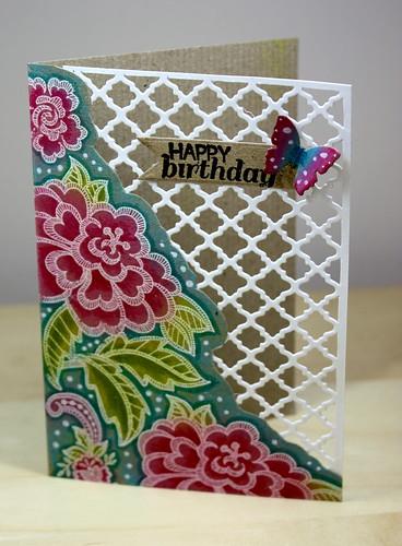 Floral Birthday Lattice