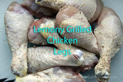 Lemony Grilled Chicken Legs