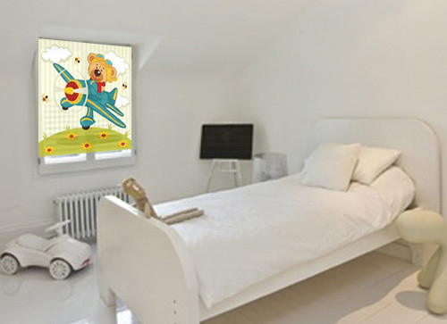 Oso aviador decoraci n de paredes decoraci n de for Cortinas infantiles