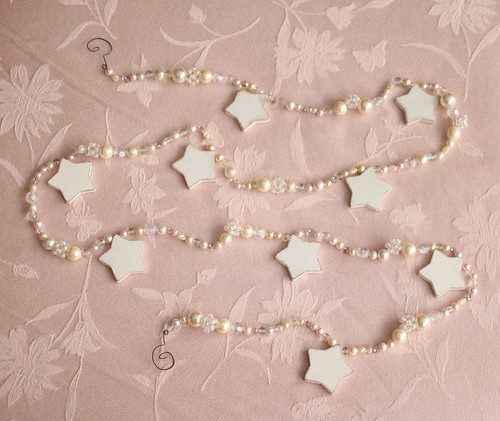 Christmas,Star,Bead and Pearl Garland