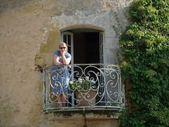 Tessa on the balcony